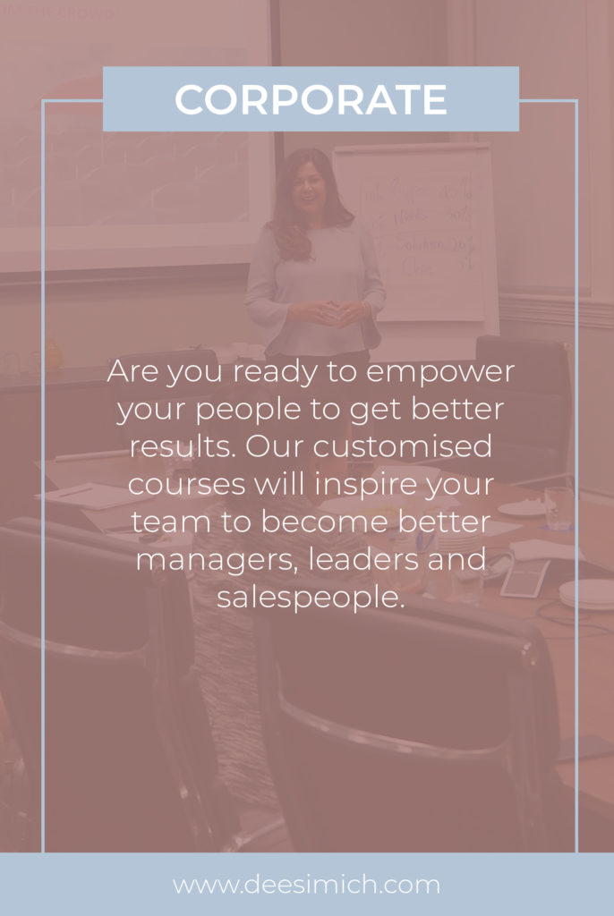 Corporate training with Dee Simich