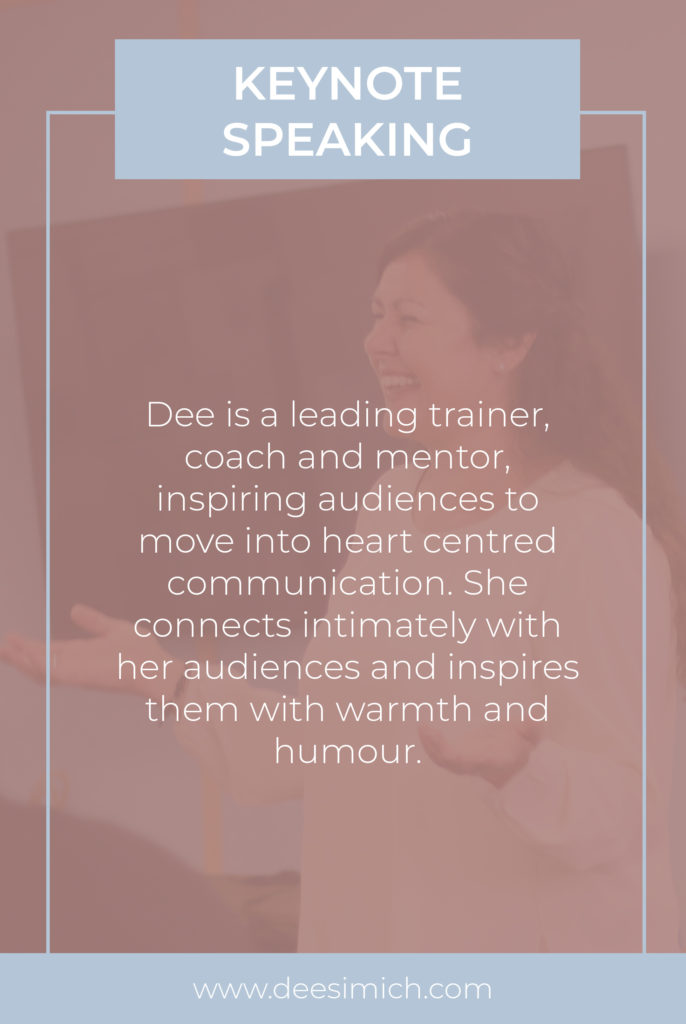 Keynote speaking with Dee Simich